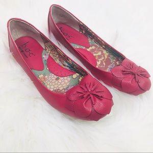 Born Ballerina Pink Flats Slip On Shoes 8/39